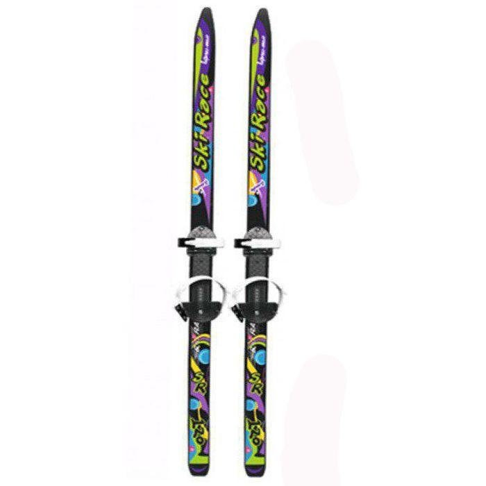 """Лыжи """"Ski Race"""" с палками, черные, 120/95"""