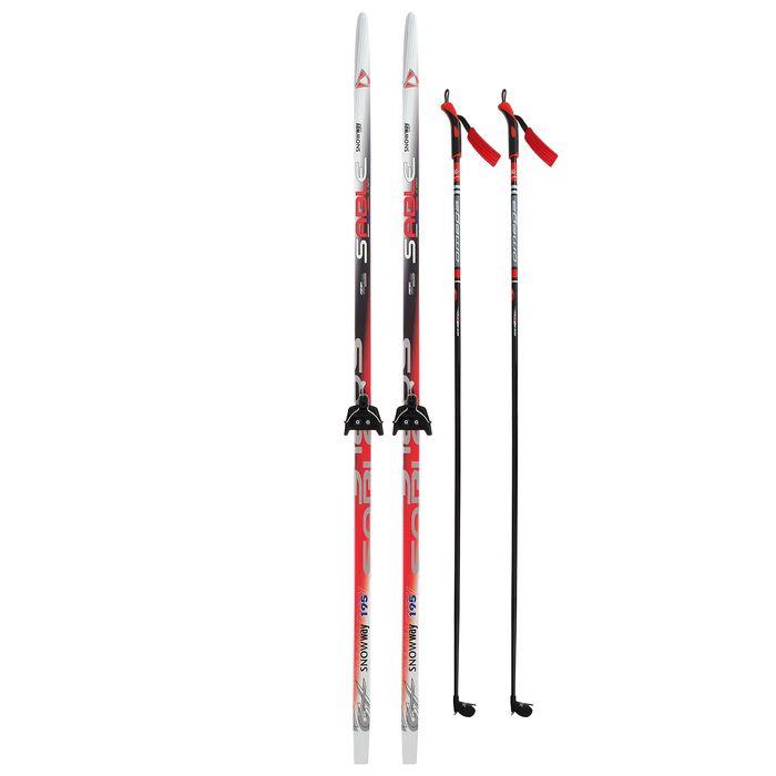 Комплект лыжный БРЕНД ЦСТ 195/155 (+/-5 см), крепление 0075 мм, цвет