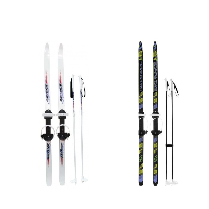 Подростковые лыжи Ski Race с палками, 150/110 см