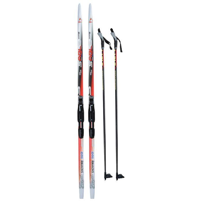 Комплект лыжный БРЕНД ЦСТ Step, 160/120 (+/-5 см), крепление SNS, цвет