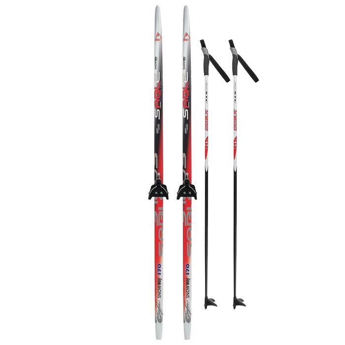 Комплект лыжный БРЕНД ЦСТ Step, 170/130 (+/-5 см), крепление 0075мм, цвет