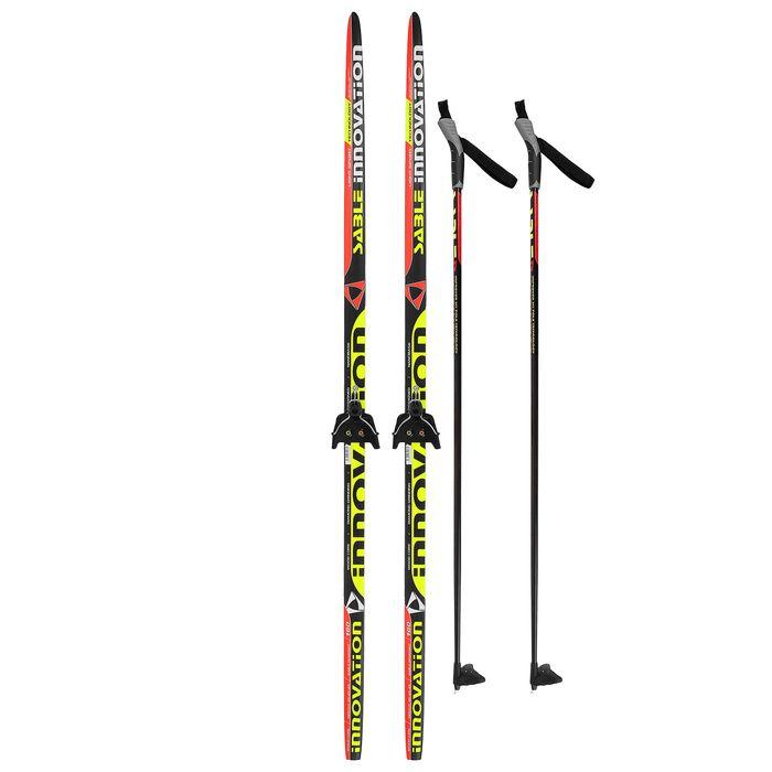 Комплект лыжный БРЕНД ЦСТ Step, 160/120 (+/-5 см), крепление 0075мм, цвет