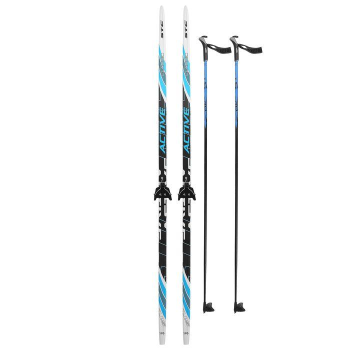 Комплект лыжный БРЕНД ЦСТ Step, 195/155 (+/-5 см), крепление 0075мм