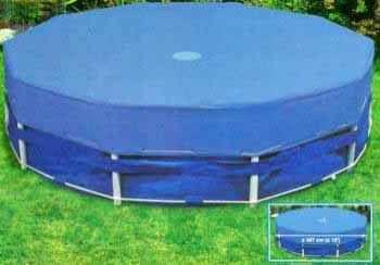 Тент для круглого бассейна на опорах, 457 см