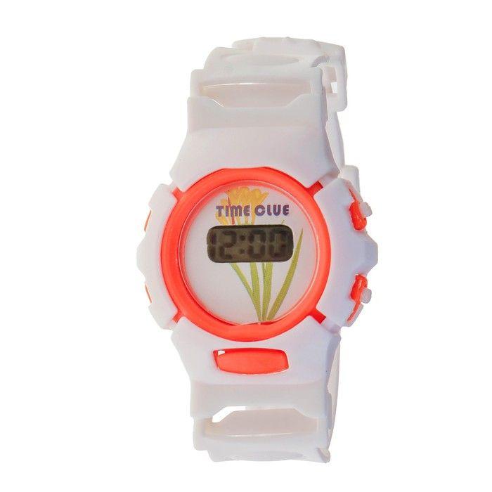 """Часы наручные детские """"Нежность"""", электронные, с силиконовым ремешком"""