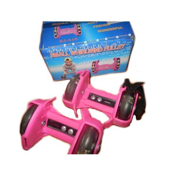 Накладные мини-ролики Flashing Roller (светящиеся колеса), розовые