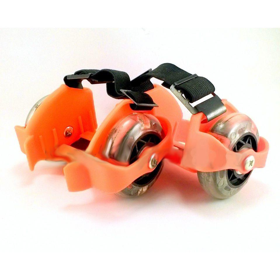 Накладные мини-ролики Flashing Roller (светящиеся колеса), оранжевые
