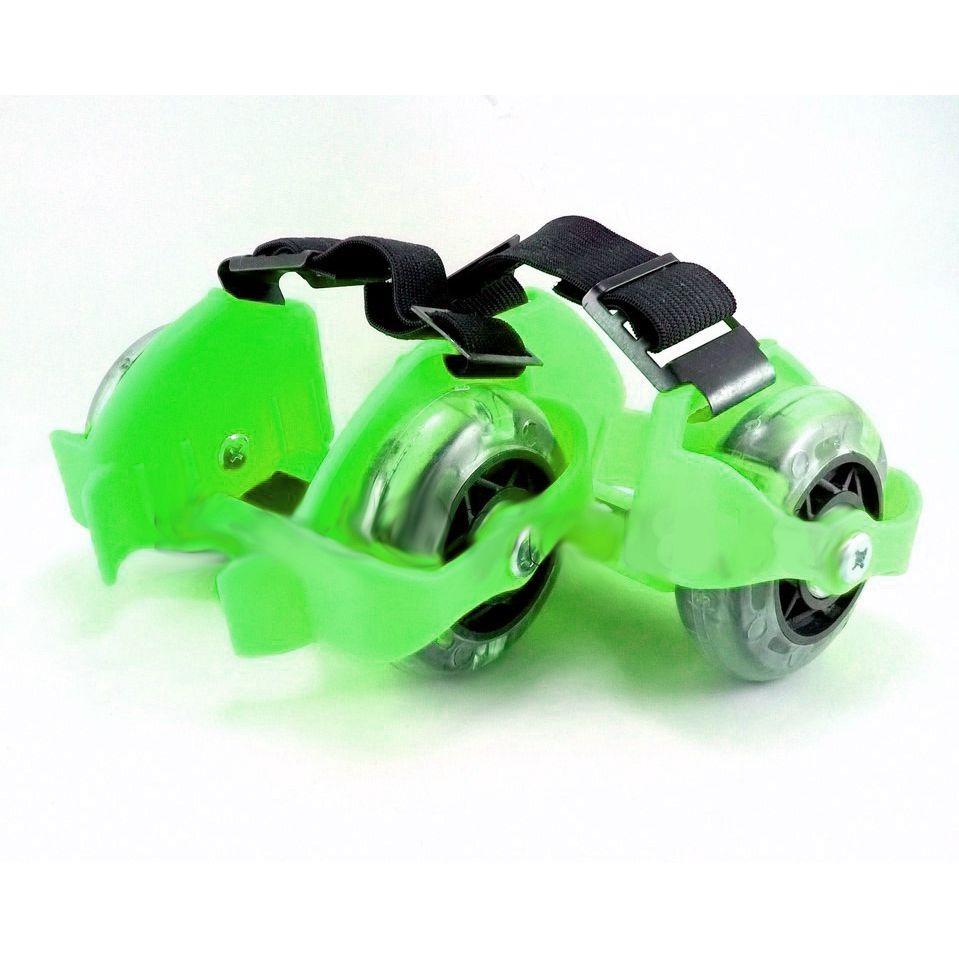 Накладные мини-ролики Flashing Roller (светящиеся колеса), зеленые