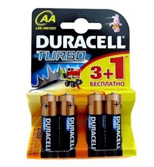 Алкалиновые батарейки Duracell Turbo - AA 1.5V LR6, 4 шт.