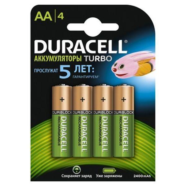 Никель-металлгидридные аккумуляторы Duracell Turbo - AA HR6 2400 mAh, 4 шт.
