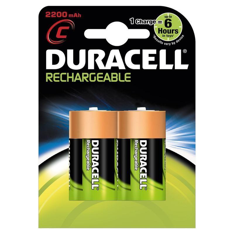 Никель-металлгидридные аккумуляторы Duracell - C HR 2200 mAh, 2 шт.