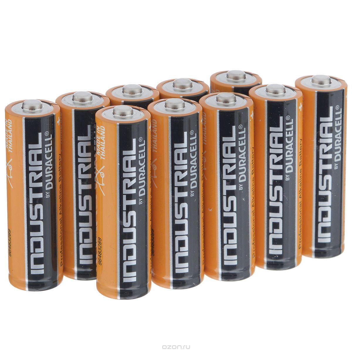 Алкалиновая батарейка Duracell Industrial 1.5V LR6, 10 шт.