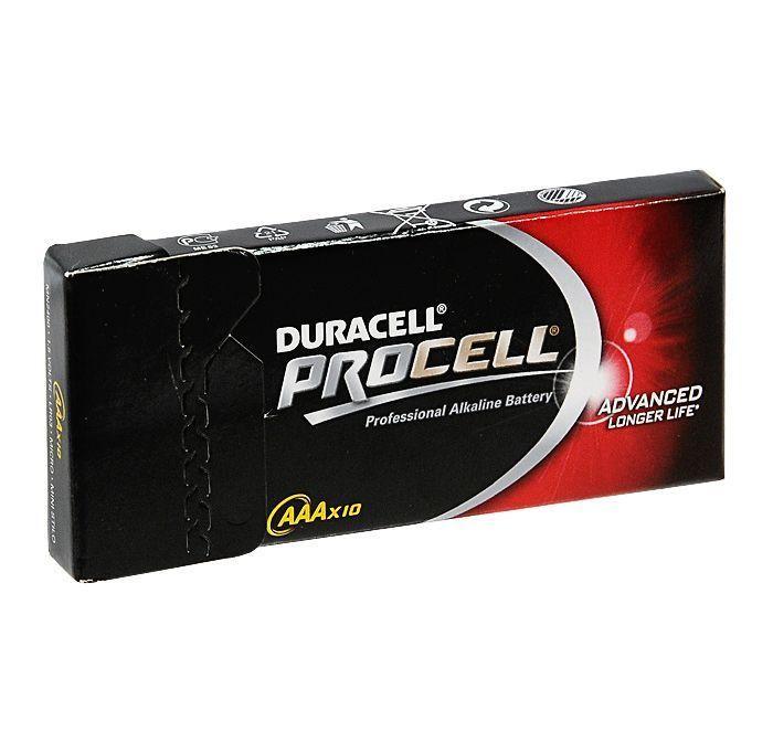 Алкалиновая батарейка Duracell Industrial ААА 1.5V LR03, 10 шт.