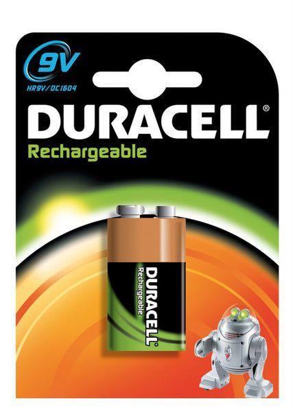 Аккумулятор никель-металлгидридный Duracell 9V 6F22, 1 шт.