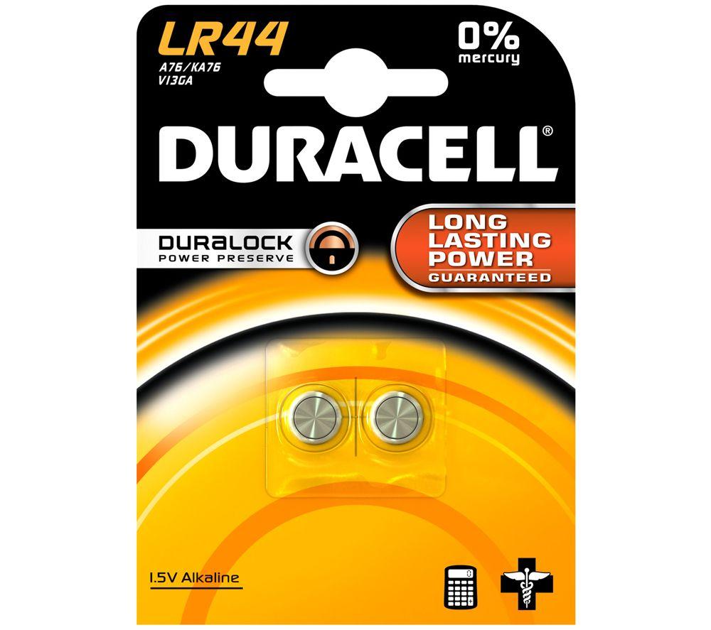 Алкалиновые батарейки Duracell для электронных приборов 1.5V LR44, 2 шт.
