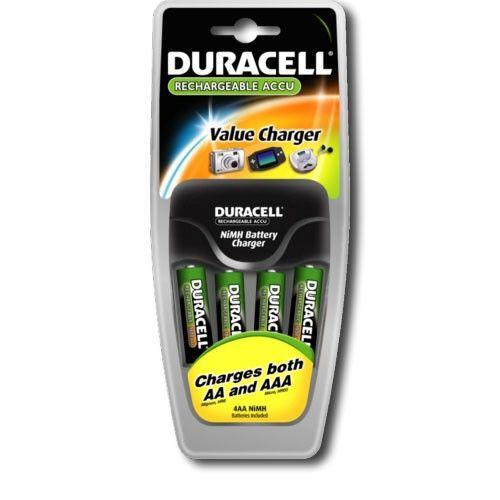 Зарядное устройство для аккумуляторов Duracell Charger Set CEF14 + 4 аккумулятора