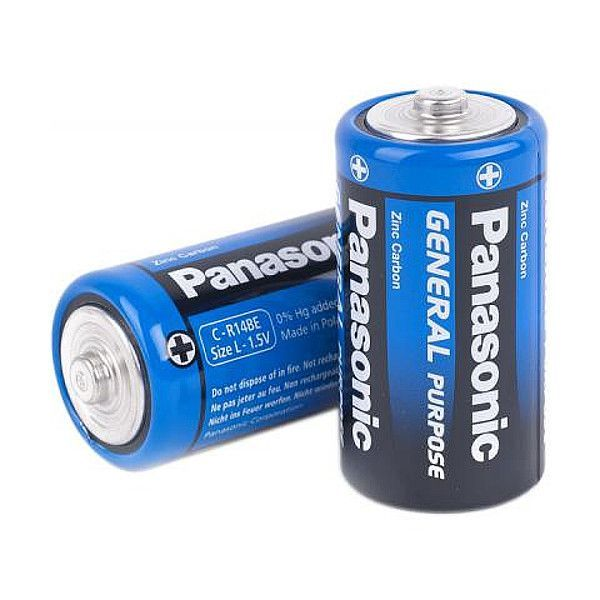 Солевые батарейки R14 General Purpose, 2 шт.