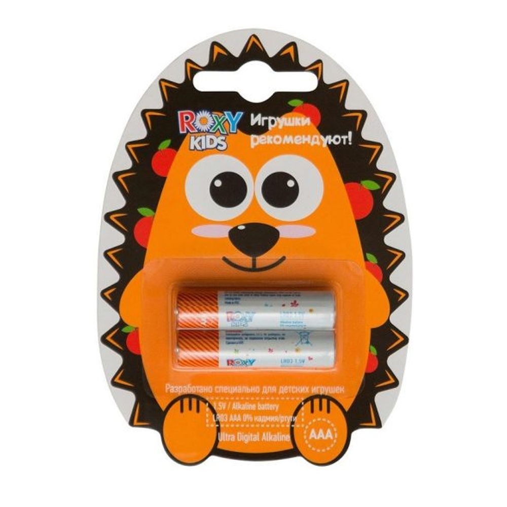 "Алкалиновые батарейки ""Ежик"" AAA 1.5V LR03, 2 шт."