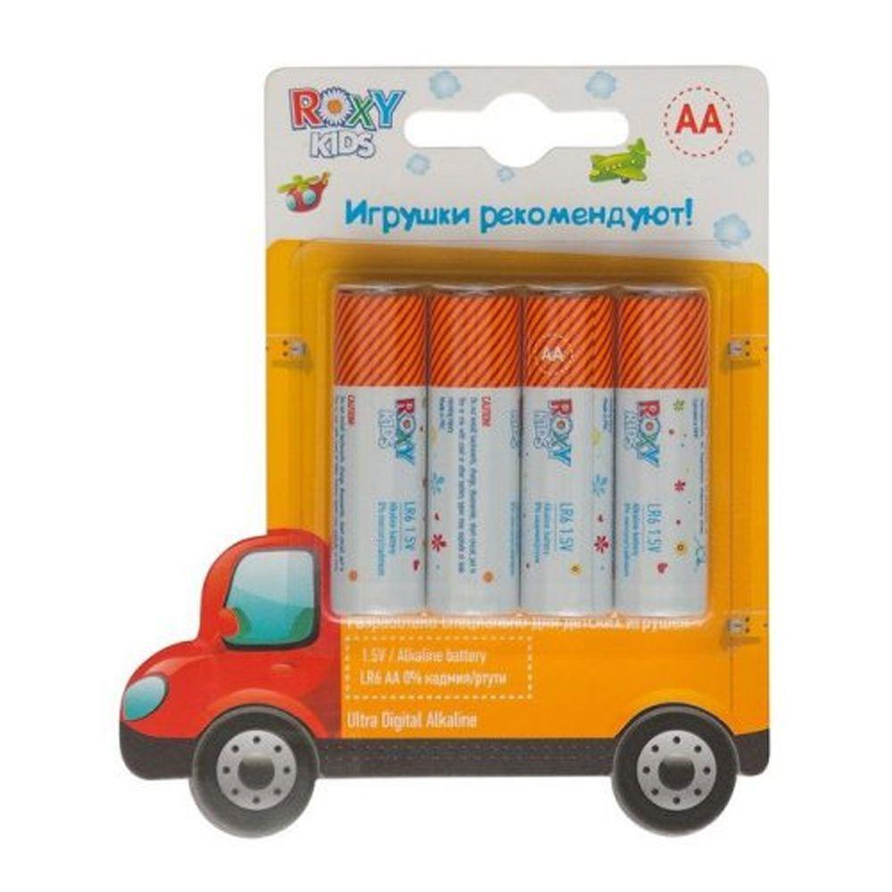 "Алкалиновые батарейки ""Машинка"" AA 1.5V LR6, 4 шт."
