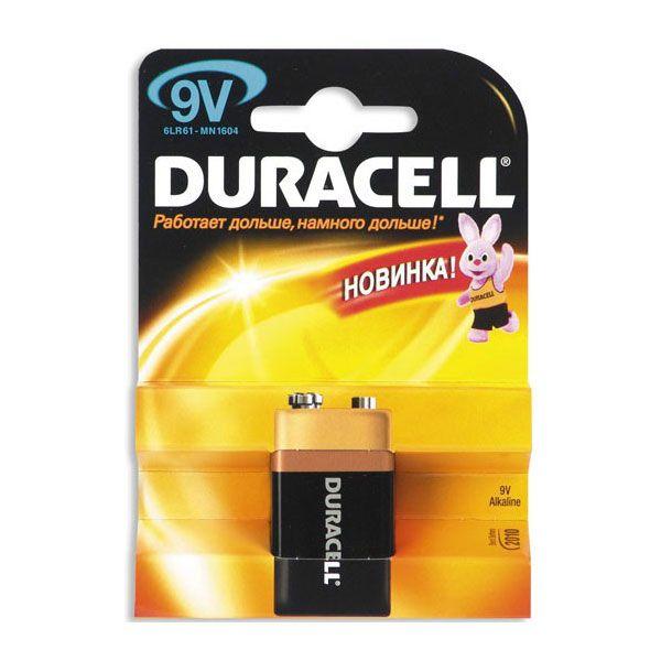 Алкалиновая батарейка Duracell, 9V 6LR61 MN 1604