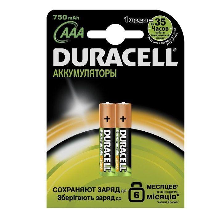 Алкалиновый аккумулятор Duracell, 750mAh, 2 шт.