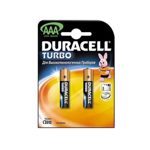 Алкалиновые батарейки Duracell, AAA, 1.5 V, 2 шт