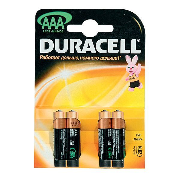 Алкалиновые батарейки Duracell - AAА, 4 шт.