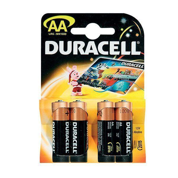 Алкалиновые батарейки Duracell - AA, 4 шт.