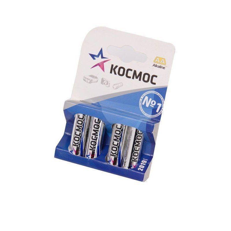 """Алкалиновые батарейки """"Космос"""" AA 1.5V LR6, 4 шт."""