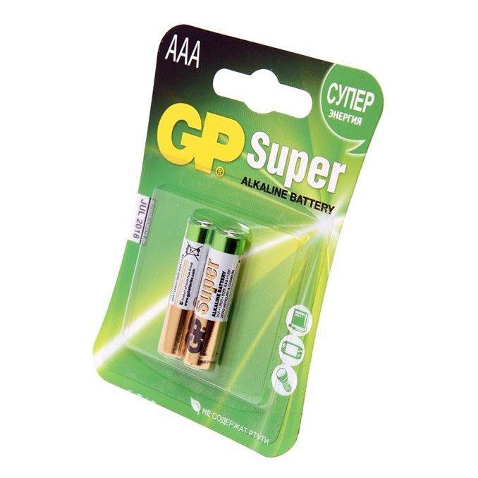 Комплект из 2 алкалиновых батареек Super Alcaline ААА LR 0.3 1.5 V