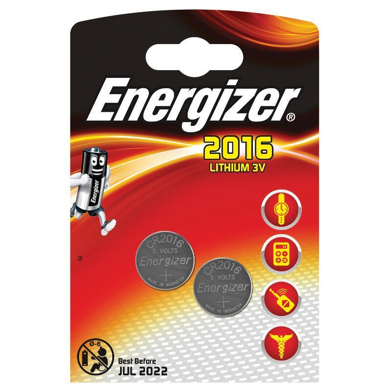 Литиевые батарейки Lithium CR2016, 2 шт.