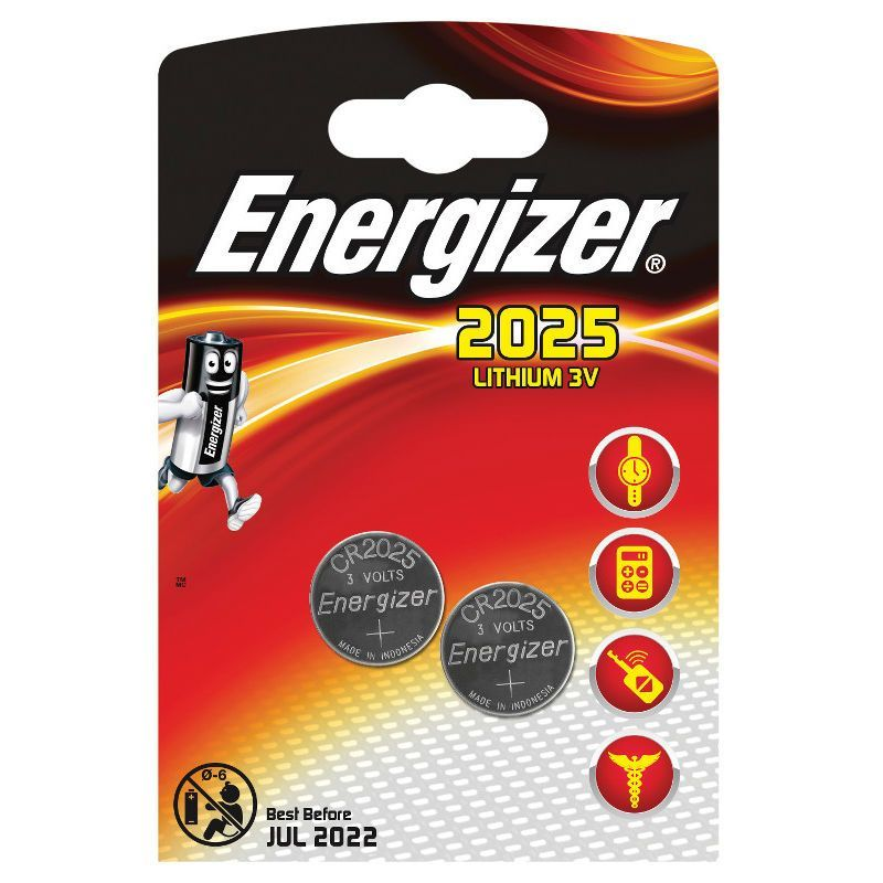 Литиевые батарейки Lithium CR2025, 2 шт.