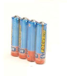 Батарейка FOCUSray Dynamic Power, солевая, (ААA) , цена за 1 штуку, в пленке 4 штуки