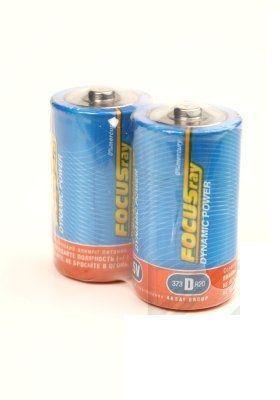 Батарейка FOCUSray Dynamic Power, солевая, (D), 2 штуки в пленке, цена за 1 штуку