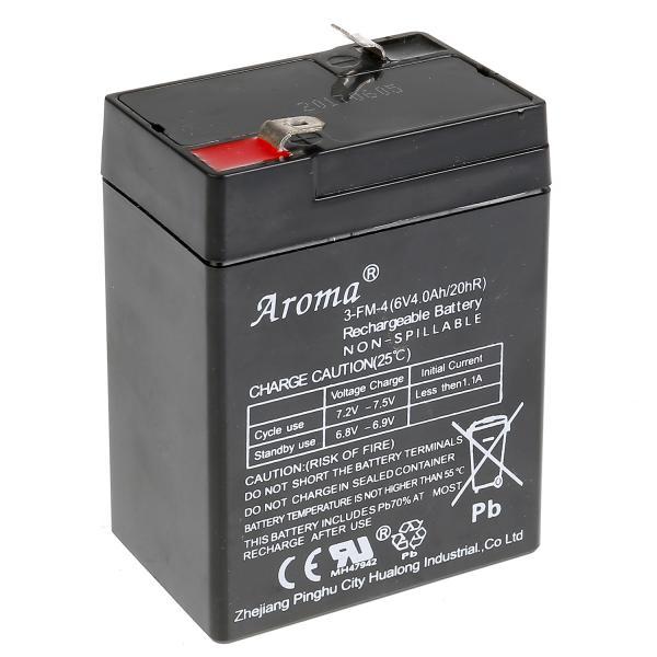 Аккумулятор 6v/4ач к аккум. машинам y043-h01140, y043-h08118