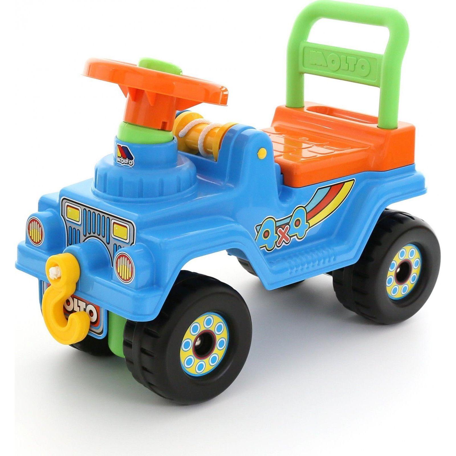 """Каталка-автомобиль """"Джип 4х4"""" (звук), голубая"""
