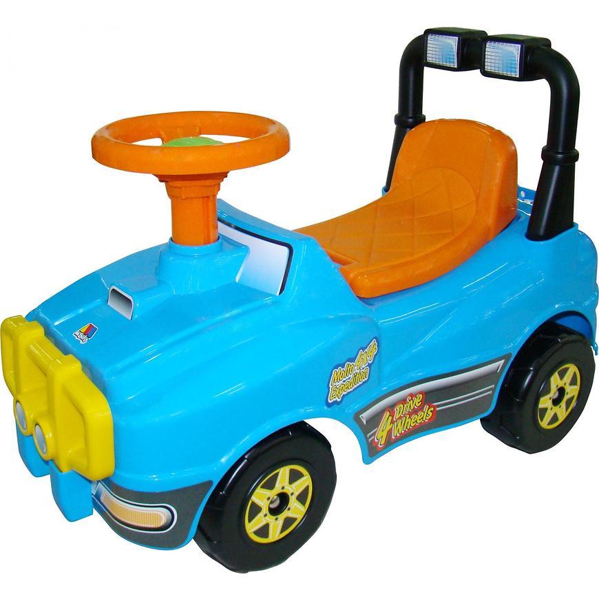 "Машина-каталка ""Джип"" (звук), голубая"