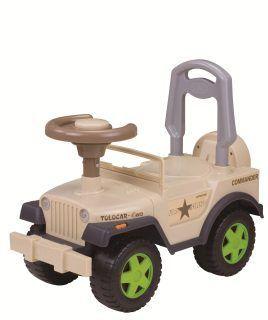 "Машина-каталка ""Шериф"" с гудком, бежевая"