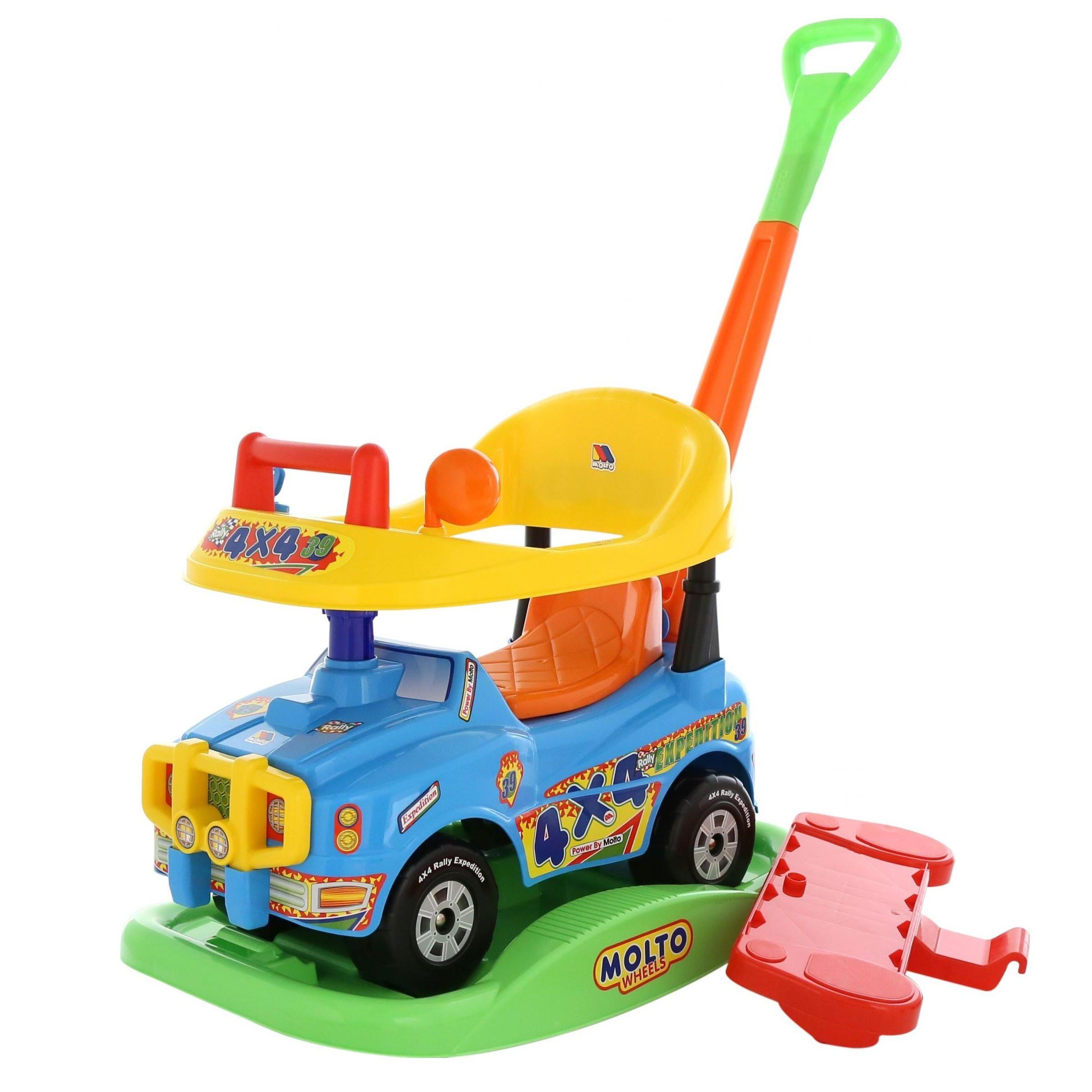 "Машина-каталка ""Джип"" - Викинг, голубая, с гудком"