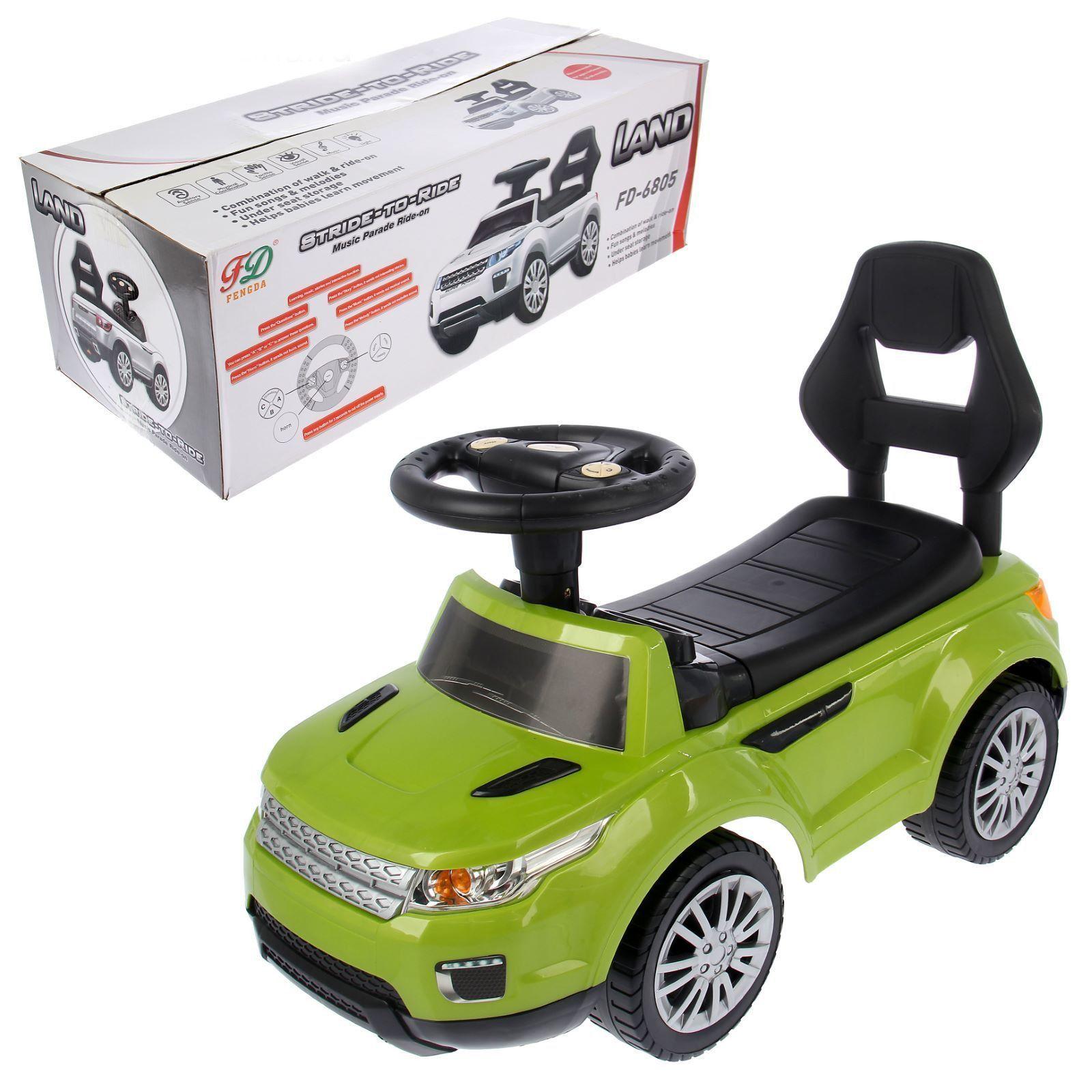 "Машинка-каталка ""Ровер"" (свет, звук), зеленый"