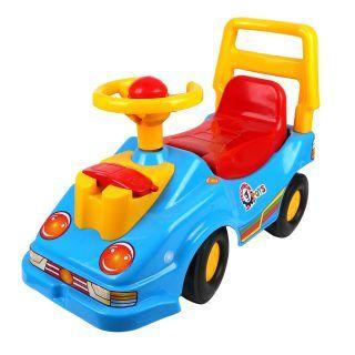 Машина-каталка с телефоном, синяя