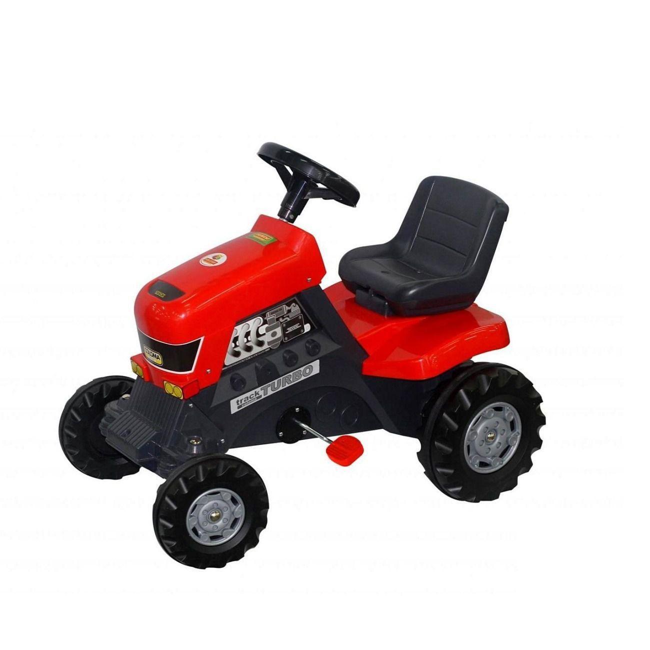 Педальный трактор-каталка Turbo, 82 см