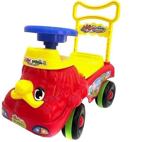 """Машина-каталка """"Мое первое авто"""" (звук), желто-красная"""