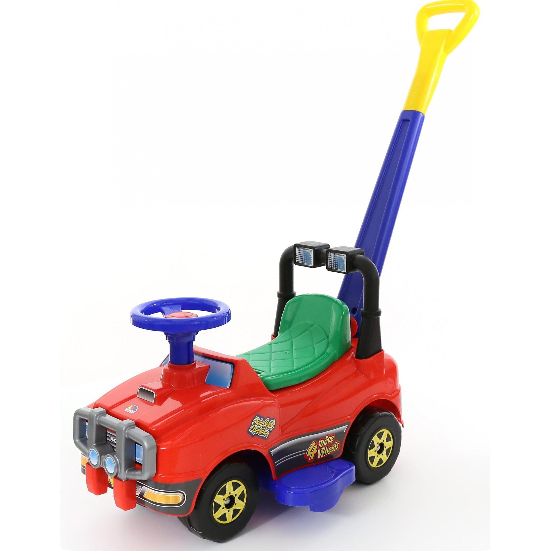 """Машина-каталка """"Джип"""" с ручкой, красная"""