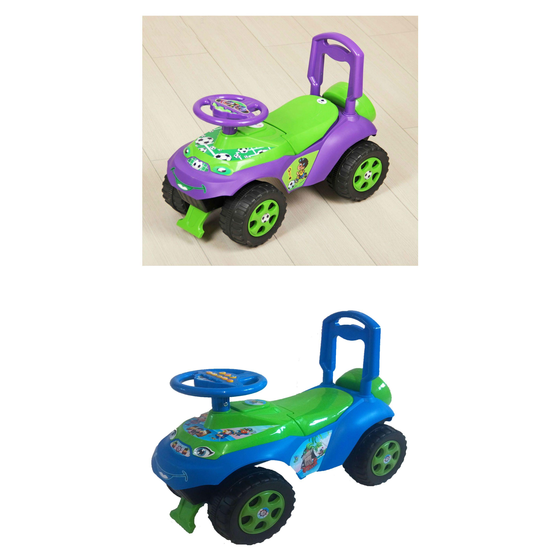 """Машина-каталка """"Повозка"""", зелено-фиолетовая"""