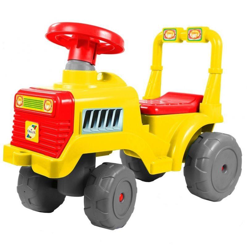 """Машинка-каталка """"Беби"""" - Трактор, желто-серая"""