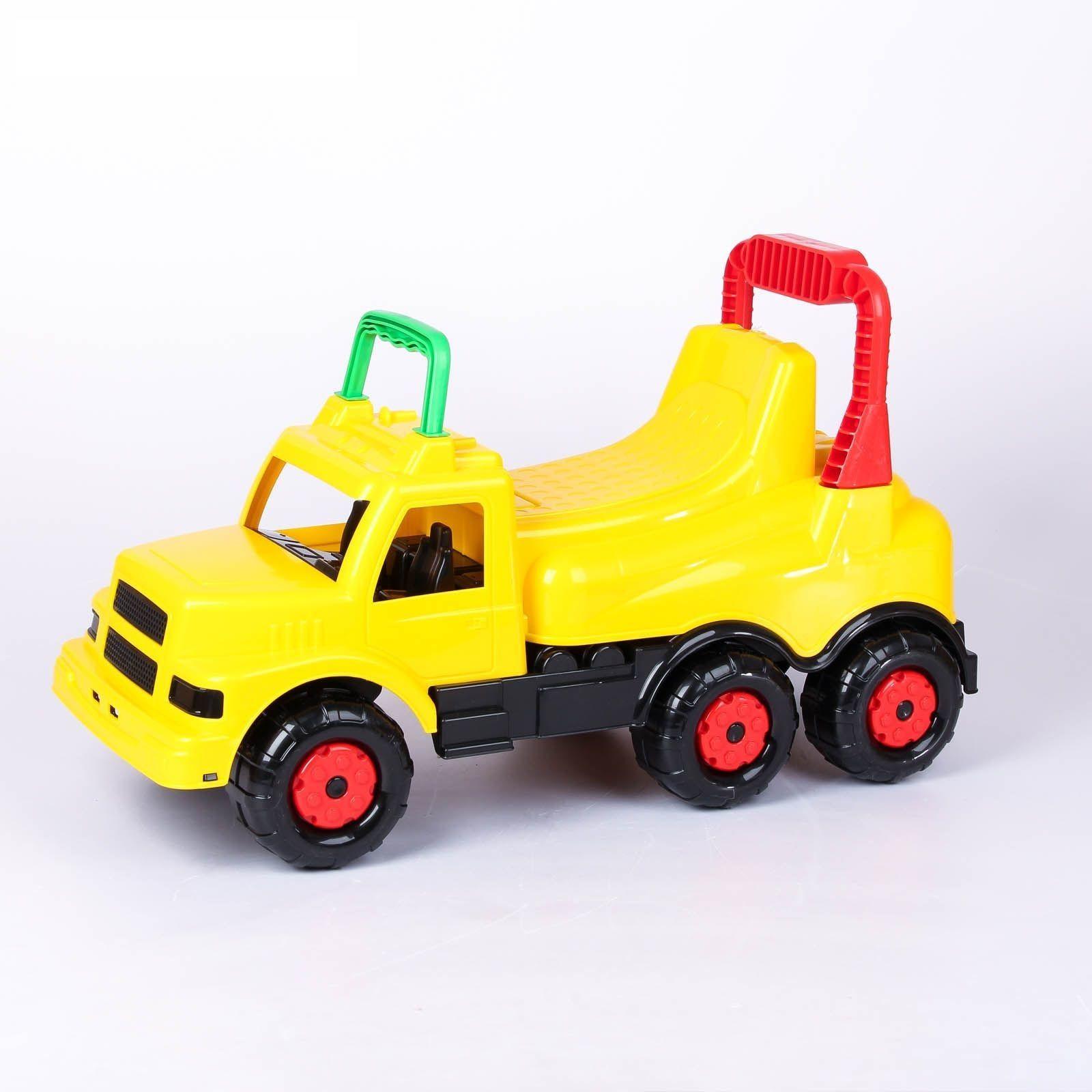 """Машинка-каталка """"Весёлые гонки"""", желтая"""