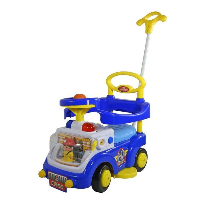 """Машинка-каталка """"Пожарная машина"""" (свет, звук), синяя"""
