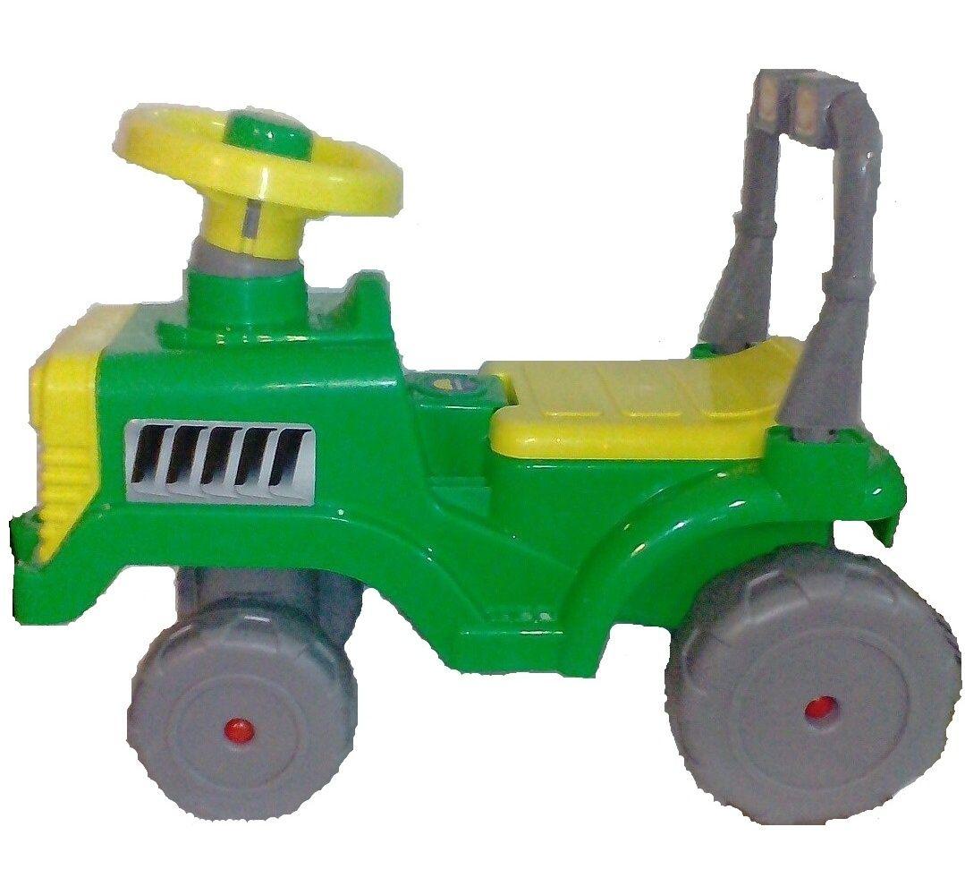 """Машинка-каталка """"Беби"""" - Трактор, серо-зеленая"""