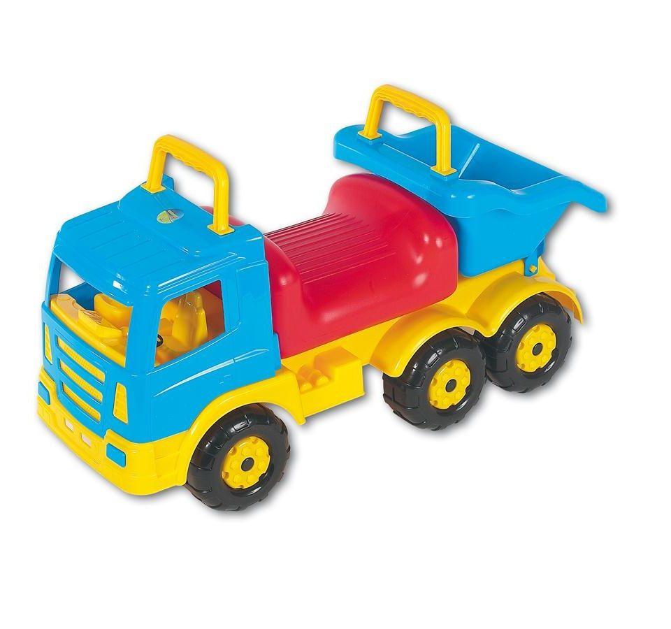 """Машина-каталка """"Премиум-2"""", голубая, с красным сиденьем"""
